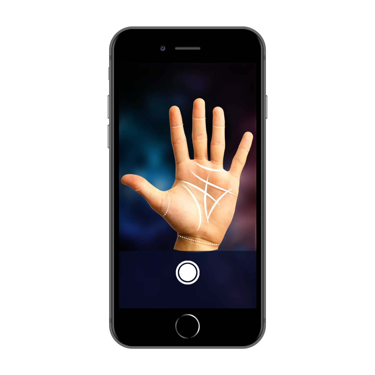 Discover your future via the Palmistry HD App **