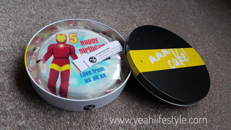 Personalised Superhero Birthday Cake Review from Bakerdays *