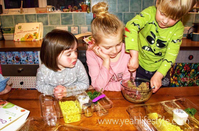 Little-Cook-Box-Kids-Meals-Prepared-Blogger-Review-UK-Kids-Preparing