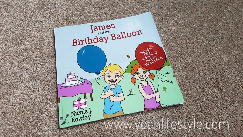 Childrens-Book-James-and-Birthday-Balloon-Nicola-Rowley-Blogger-Review-UK