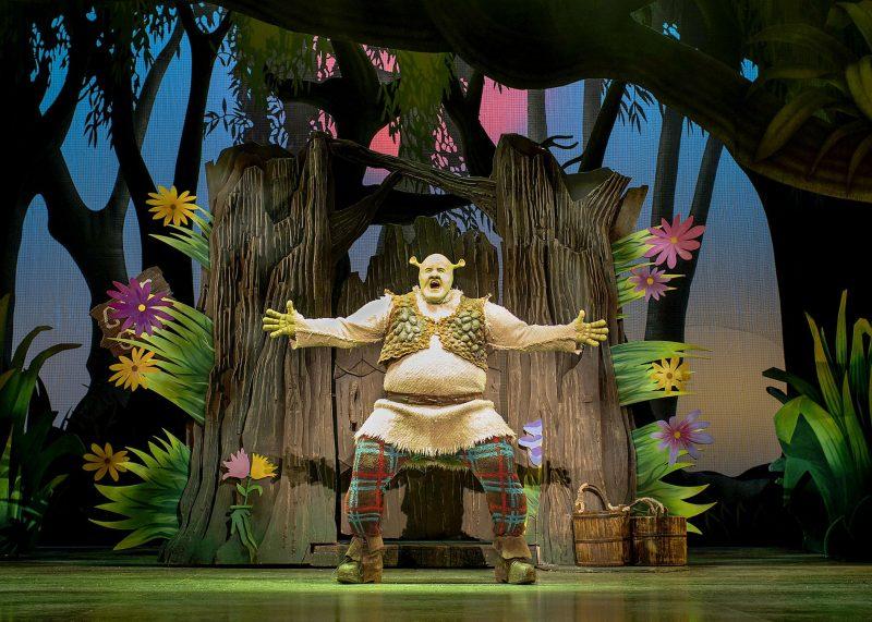 Steffan-Harri-Amelia-Lily-Shrek-the-Musical-UK-Regent-Theatre-Tristram-Kent-Happy-Ogre