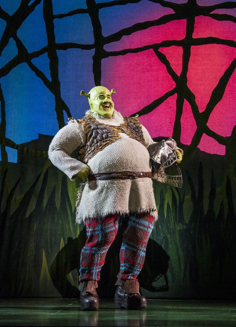 Steffan-Harri-Amelia-Lily-Shrek-the-Musical-UK-Regent-Theatre-Tristram-Kent-Ogre
