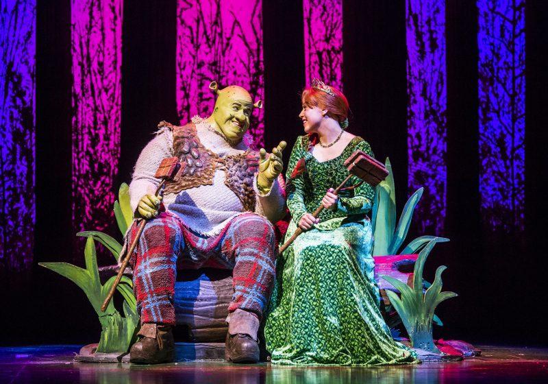 Steffan-Harri-Amelia-Lily-Shrek-the-Musical-UK-Regent-Theatre-Tristram-Kent-Stand-Off-Princess-Fiona