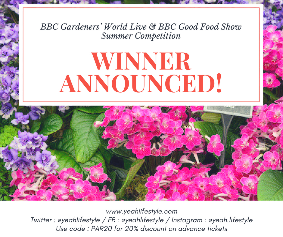 BBC Gardeners' World Live & BBC Good Food Show Summer Winners *