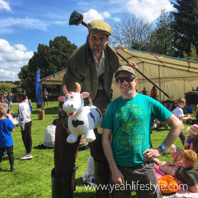 Day-Out-Family Festival-Reaseheath-College-Nantwich-Stilt-walking-farmer