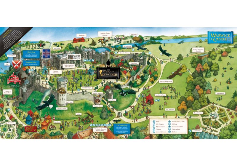 Luxury-Family-Glamping-Getaway-Warwick-Castle-Map