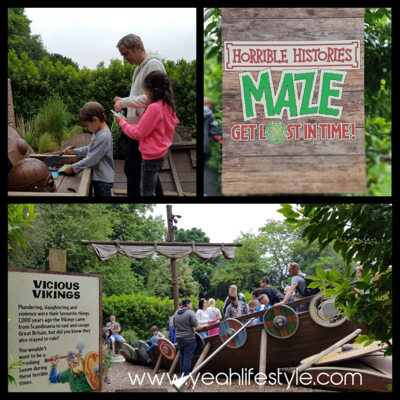 Luxury-Family-Glamping-Getaway-Warwick-Castle-horrible-history-maze-fun