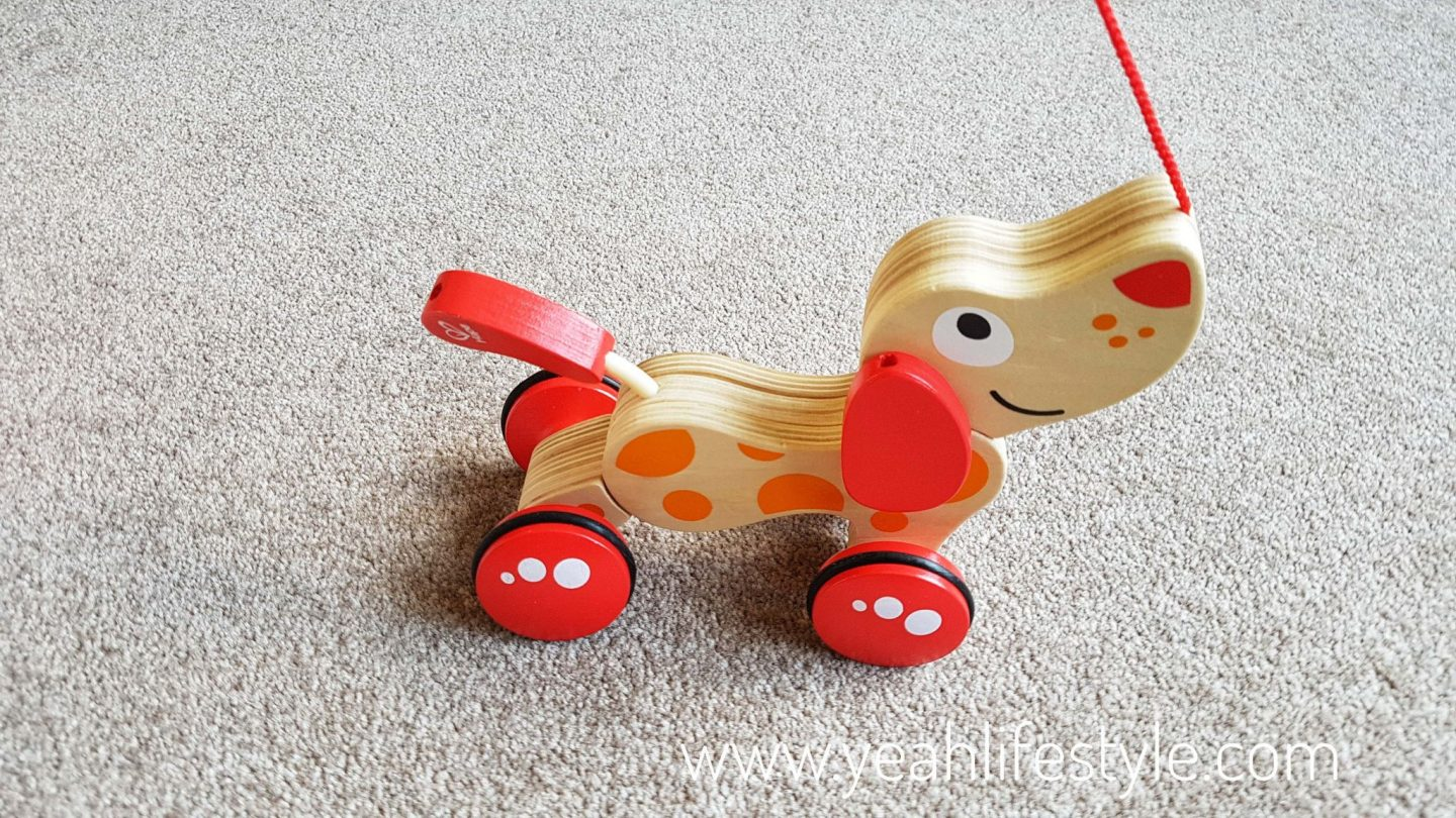 Hape-kids-pull-along-pepe-puppy-blogger-review-toys-toddler
