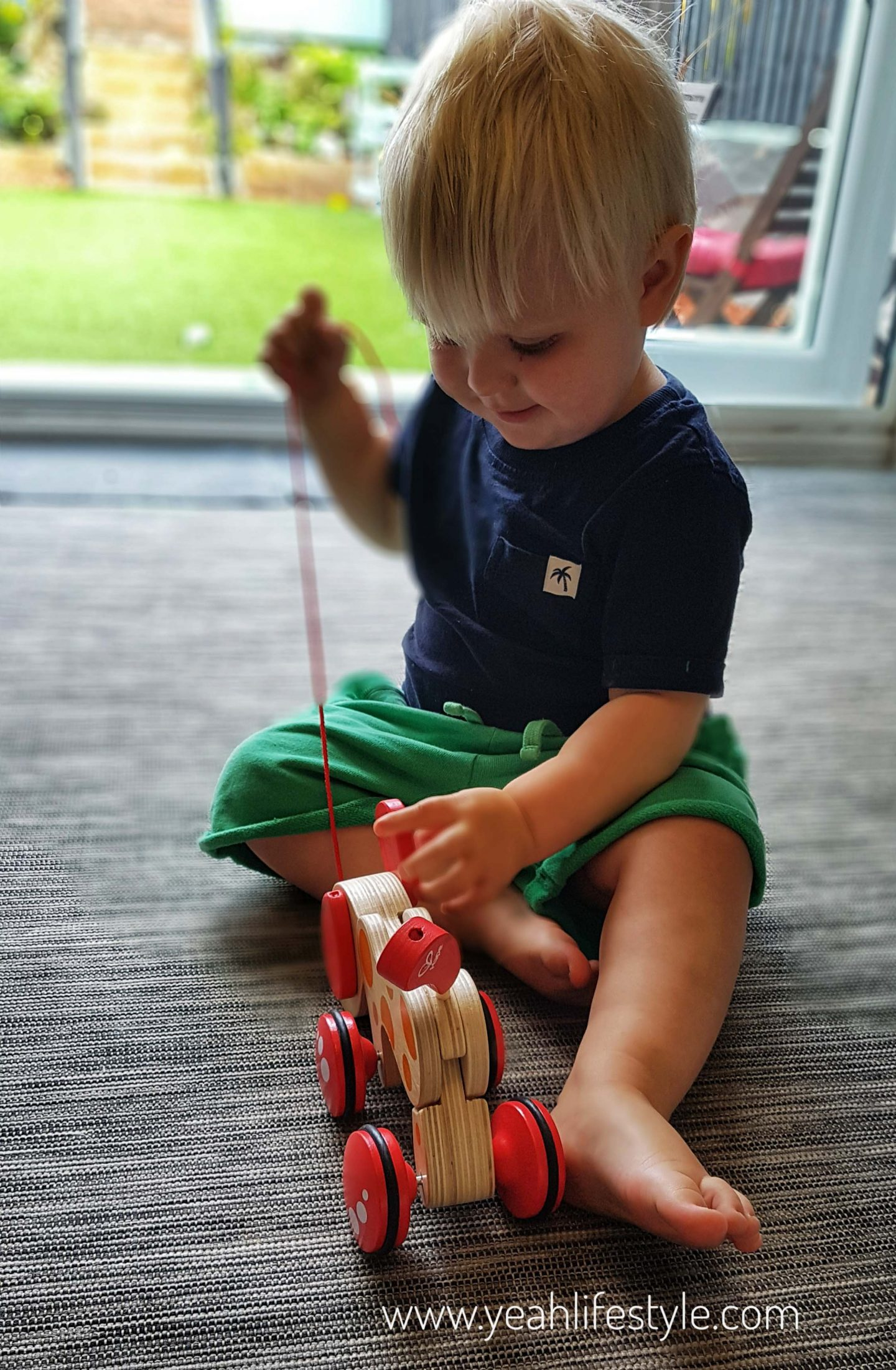 Hape-kids-pull-along-pepe-puppy-blogger-review-toys-toddler-play