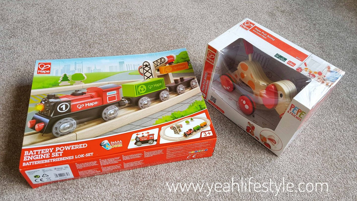 Hape-kids-wooden-train-set-pull-along-puppy-blogger-review-toys-