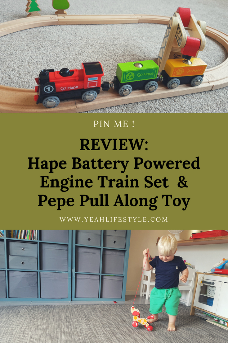 Hape Battery Powered Engine Train Set and Pepe Pull Along Toy Review ...