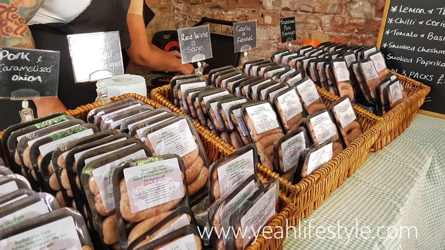 rode-hall-farmers-market-scholar-green-cheshire-blogger-review-sausages