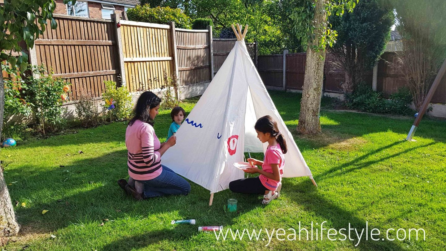 Hobby-Craft-Teepee-Kids-Decorate-Paint-Activity-Blogger-Review-Family