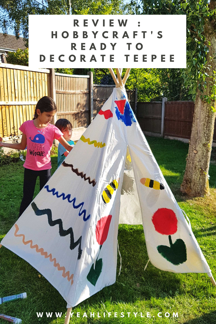 Hobby-Craft-Teepee-Kids-Decorate-Paint-Activity-Blogger-Review-Pinterest