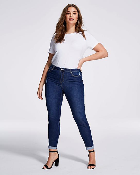Apple Shaped Demin Jeans for Women of All Sizes