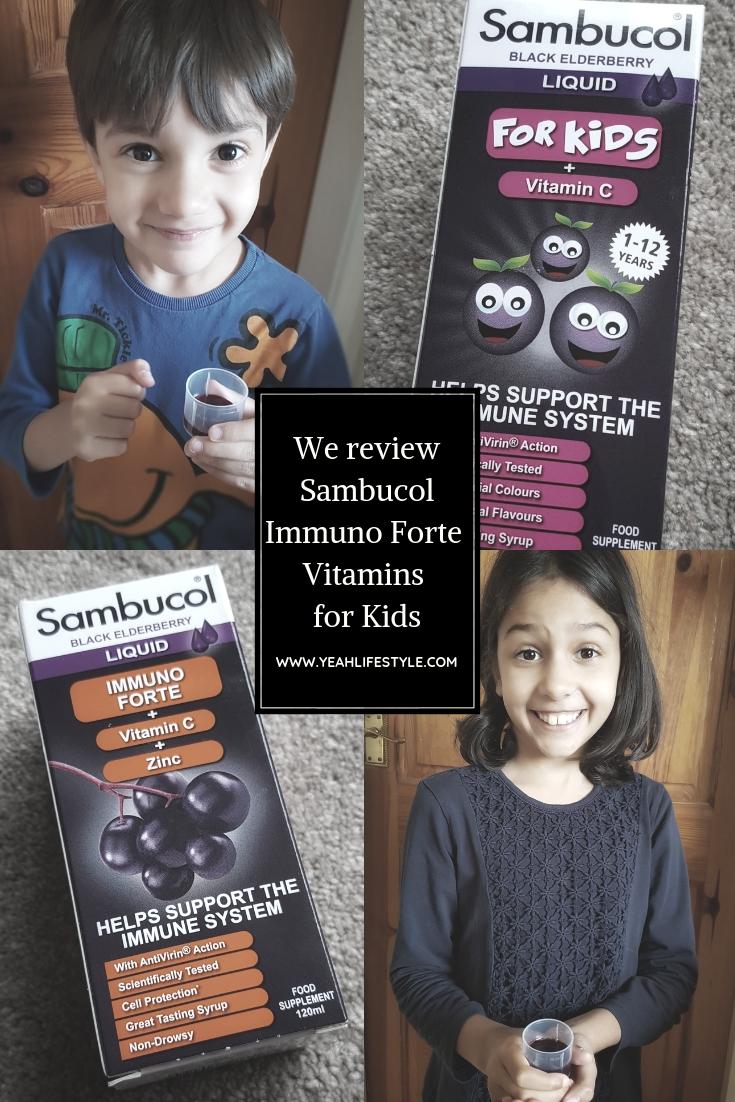 Sambucol Kids Immuno Liquid Black Elderberry Vitamins