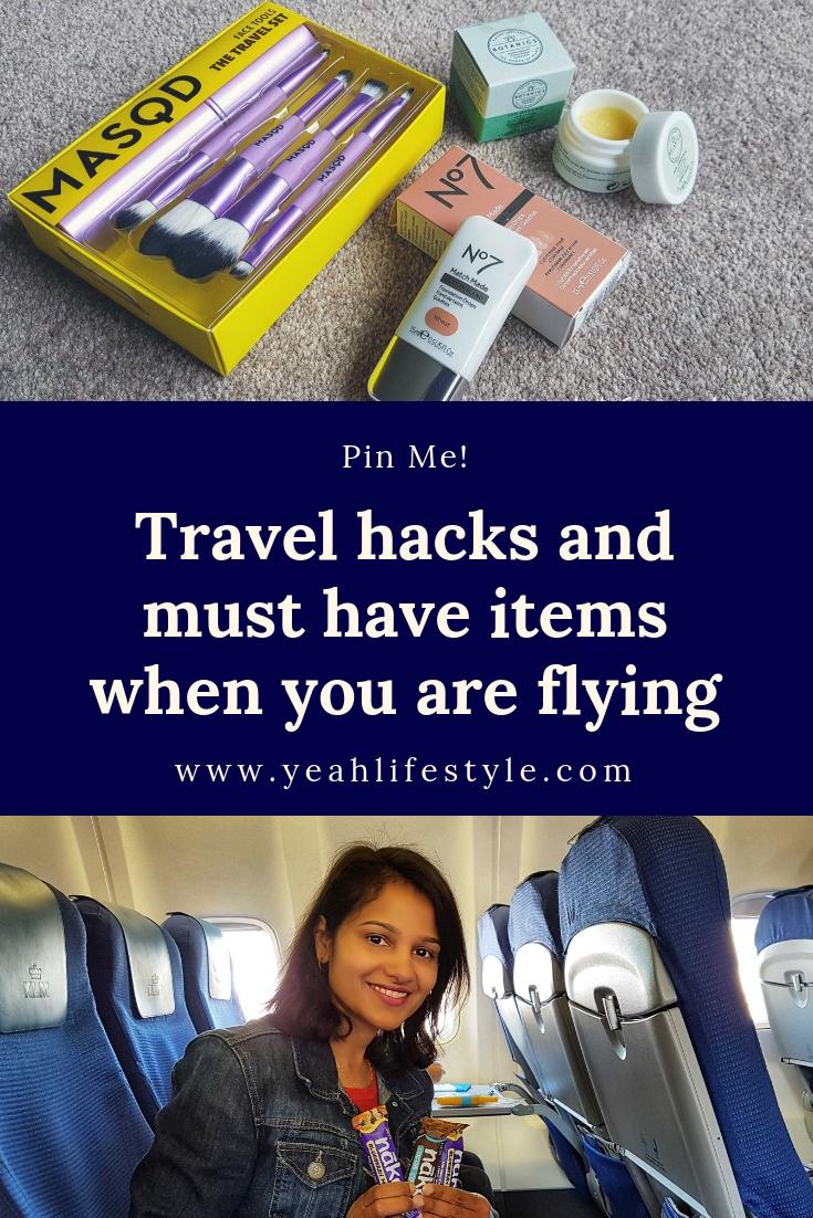 travel-hacks-must have-items-tips-flying-make-up-masq-boots-no7-botanics-nakd-bars