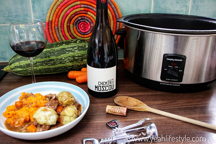 Review & Recipe: Chemin de Moscou Wine with Beef Stew